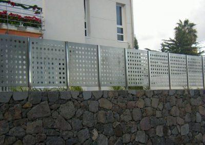 Cerramiento exterior Inox Perforado