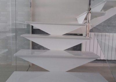 Escaleras Acero Inox y cristal 01