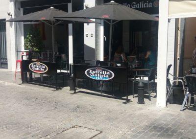 Vallas publicidad terraza de bar